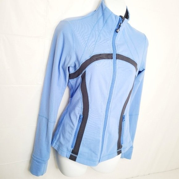 Lululemon Define Jacket - Blue and Charcoal